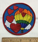 Hot Air Balloon Hearts Love Ballooning Round Embroidered Patch