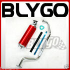 Exhaust Pipe + RED Alloy Muffler GY6 150cc 200cc Quad Dirt Bike ATV Dune Buggy