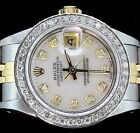 Rolex Lady Datejust Oyster Stainless Gold Diamond Dial Bezel 6917 Luxury Watch
