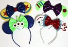 24pc Mickey Minnie Mouse Ears Headband Black Red Pink Bow Party Favors Costume