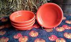 Lot 4 19OZ CEREAL soup BOWL poppy orange FIESTAWARE FIESTA