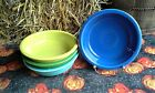 Lot 4 19OZ CEREAL soup BOWL turquoise shamrock lemongrass + FIESTAWARE FIESTA