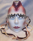 Vintage About Face Clay Art Ceramic Mask Punk Rocker Devo Mohawk Haircut