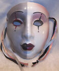 Vintage About Face Clay Art Ceramic Mask Mime Harlequin