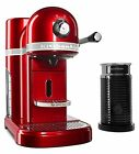 KitchenAid Candy Apple Red Nespresso Espresso Maker with Aeroccino Milk Frother