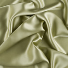 Celery Green Stretch Silk Charmeuse Fabric By The Yard
