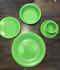 FIESTAWARE DISHES (HOMER-LAUGHLIN) SHAMROCK (5 Pc Place setting) made in USA