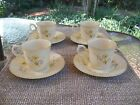 4 Mikasa Fine Ivory Spring Meadow D1007 Cups and Saucers