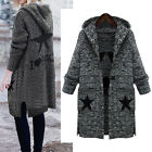 Women Ladies Warm Knit Coat Jacket Long Sleeve AU Size 14 16 18 20 22 24 26 806