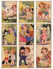 9 Retro Vintage Girls Spring Summer Hang Tags Scrapbooking Paper Crafts 262