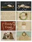 8 Christmas Primitive Hang Tags Journal Cards Labels Scrapbooking 26