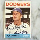 Don Drysdale 1964 Topps #120 AUTOGRAPH SIGNED Card Dodgers