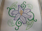 Clearance 9 x 12 Embroidered Quilt Block Day Lily Square