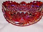 Carnival Glass Sunburst Iridescent Heavy Bowl W/ scalloped saw tooth rim