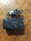 Sterling Silver Elephant antique Spain on Marble Base nice detail!