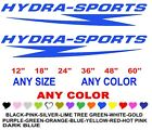 HYDRA SPORTS stickers decals ANY COLOR ANY SIZE BOAT HYDRA SPORTS