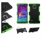 Samsung Galaxy Note 4 Hybrid Rubber Shockproof Protective Hard Case Cover Stand