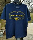 Nike Michigan Wolverines T Shirt Basketball Large used
