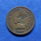 1907 INDIAN HEAD CENT UNUSUAL EAGLE COUNTERSTAMP TRENCH ART MILITARIA