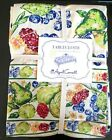 APRIL CORNELL Tablecloth 60x120 fruit green red beige