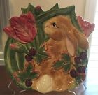 Fitz and Floyd Blackberry Rabbit  Bunny Canape Plate New In Box