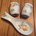 Corelle Compatibles ABUNDANCE Spoon Rest Holder Salt & Pepper Shakers Ceramic