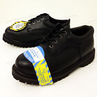 New Mens Steel Toe Work Boots 4 Black Leather Oxford Oil Resistant Shoes Sizes