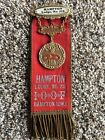 LARGE INDEPENDENT ORDER OF OLD FELLOWS IOOF BADGE AND RIBBON Hampton Iowa Lodge