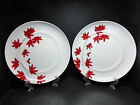 TWO BEAUTIFUL MIKASA PURE RED SALAD PLATES