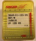 100 SINGER INDUSTRIAL SEWING MACHINE NEEDLES 149X15 SIZE 120/20