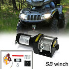 SB 2000lb 12V 0.7kw Electric Recovery Winch for ATV Boat Snow Mobile 2000lbs