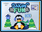 SNOW FUN winter premade scrapbook pages 5 pc 3D paper piecing DIE CUT BY CHERRY