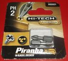PH2 Torsion Screwdriver Bit Phillips 2 Piranha Black and Decker X62021 Pack of 2