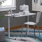 NEW Sewing Machine Table White Resin Folding Compact Craft Table Portable Desk