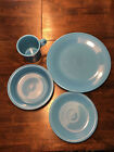 FIESTAWARE DISHES (HOMER-LAUGHLIN) PEACOCK (4pc. Place setting) made in USA