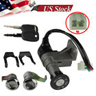 Key Lock Set 4 Wire Ignition Switch For Scooter Moped 50cc 110 150 Chinese