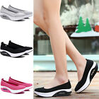 Lady Womens Breathable Platform Walking Athletic Trainers Slip On Shoes Sneakers