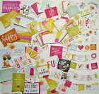 Simple Stories Sunshine  Happiness Snap Pack 98 Cards  Die Cuts Save 40