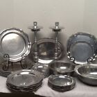 RWP Wilton Armetale complete Set of31 Pewter Plates Queen Anne Columbia serves 6
