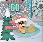 SNOW ON THE GO girl winter 2 premade scrapbook pages paper piecing album CHERRY