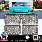 4X6 LED Headlights Sealed Beam Hi Lo headlamp Projector Fit GEO METRO 89 97