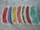 7 CROCHETED 100 COTTON DISH RAGS CLOTHS ASSORTED COLORSONE PER DAY OF WEEK8