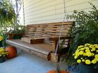 Handmade Wood Porch Swing Patio Swing Patio Furniture Bench Outdoor Furniture