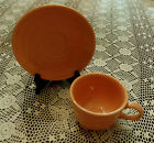 Discontinued (1986-1998 ) Fiesta ware Apricot Cup and Saucer ~ Lot of 1
