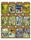 12 Wizard of Oz Vintage Hang Tags Scrapbooking Paper Crafts 285