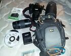 Canon EOS Rebel XS 1000D EF S 18 55mm + 75 300mm + Bag + Memory + Extras