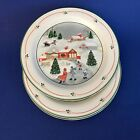 Sango Silent Night Salad Plates Three 7.5