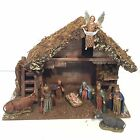 Nativity Set Wood Stable 9 Figures Sears 97894 Vintage