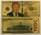 $1000.00 President Donald Trump 24kt Gold Plated Commemorative Bank Note ... NEW