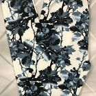 One Size Multi Color Vine Floral Leggings Pants OS 2 10 Buttery Soft